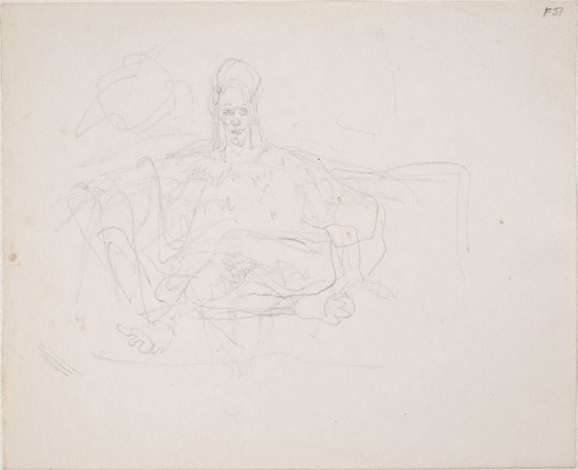 An image of (Study of figure seated) (Late Sydney Period)