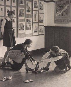 Lino-cuts: Frensham School, (1934) by Harold Cazneaux