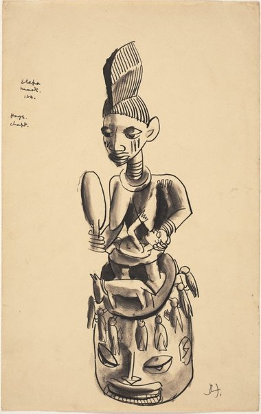 An image of Elepa mask by Donald Friend