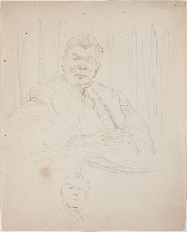 An image of (Portrait study of man seated) (Late Sydney Period)