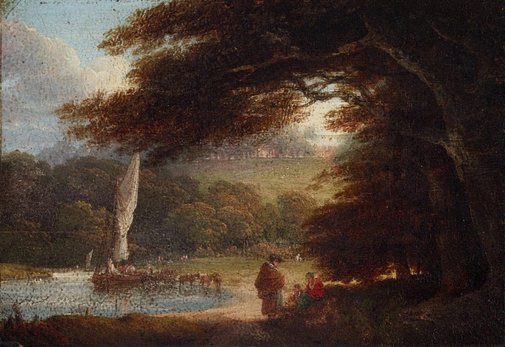 An image of Landscape with river by Unknown