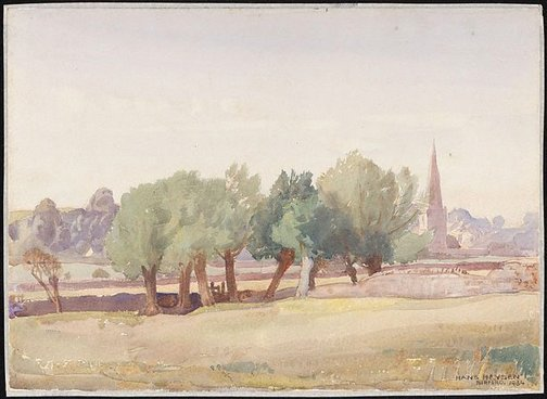 An image of Burford by Hans Heysen