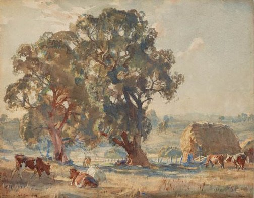 An image of Woodside pastoral by Hans Heysen