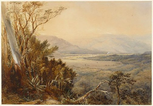 An image of Shoalhaven Valley, New South Wales by Conrad Martens