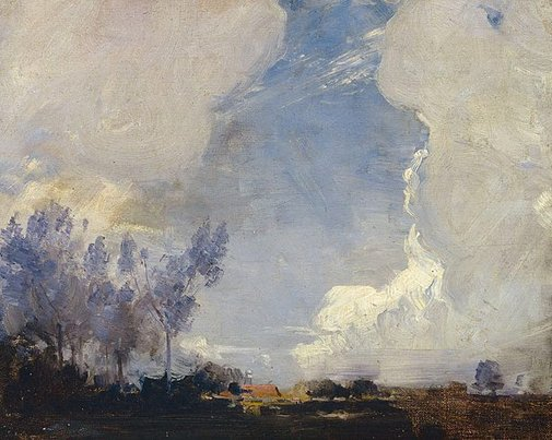 An image of Sunset landscape by Arthur Streeton