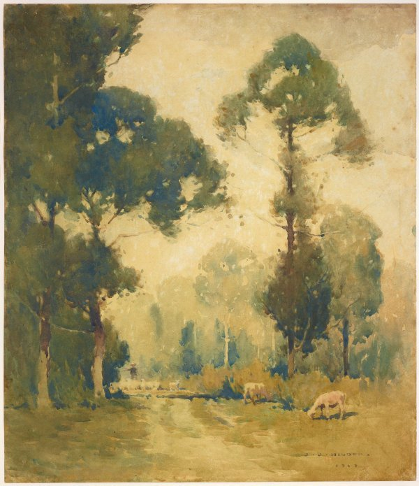 An image of Landscape with sheep
