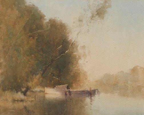 An image of Morning at Dora Creek by J J Hilder