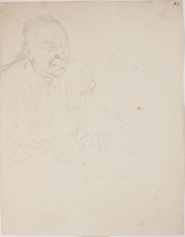 An image of (Portrait study of a man) (Late Sydney Period)