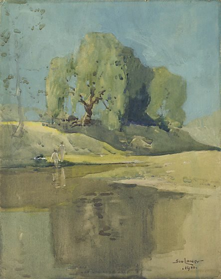 An image of River scene by Sydney Long