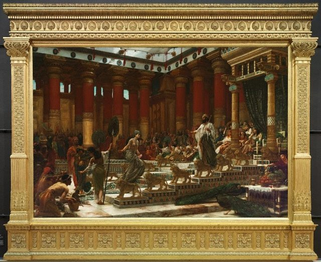 The visit of the Queen of Sheba to King Solomon, (1890) by Sir Edward John Poynter