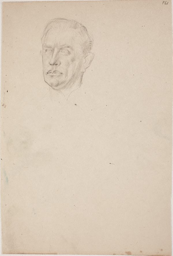 An image of (Portrait study of a man's head) (Late Sydney Period)