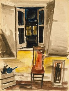 Studio window, London, (circa 1960) by Francis Lymburner