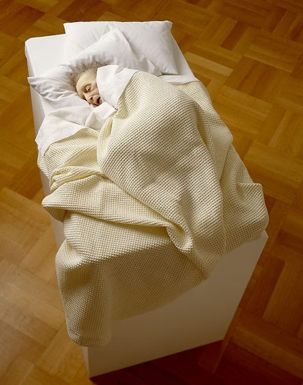 Old woman in bed, (2000-2002) by Ron Mueck