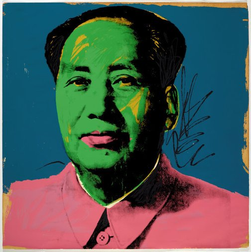 An image of Mao by Andy Warhol