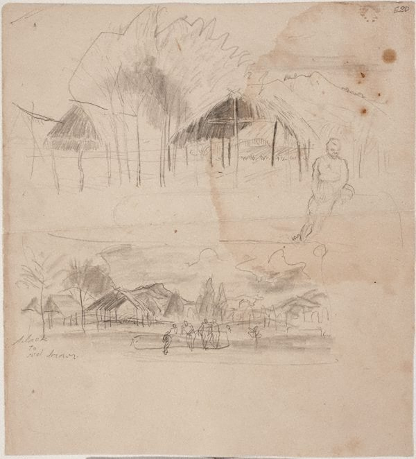 An image of Thatched huts, New Guinea