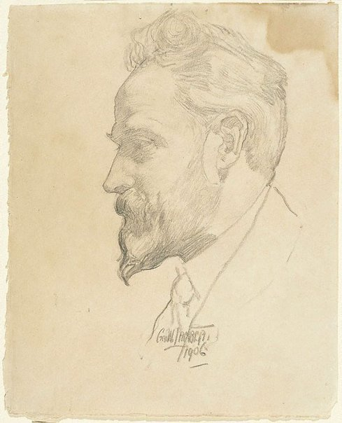 An image of Arthur Streeton by George W Lambert