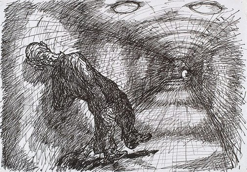 An image of (Figure and railway tunnel) by Kevin Connor