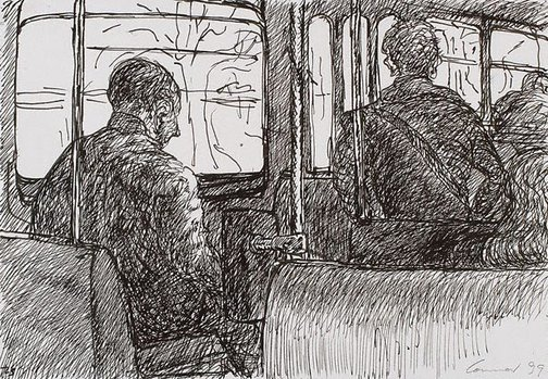 An image of On the tram, Melbourne by Kevin Connor
