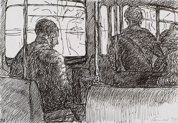 An image of On the tram, Melbourne