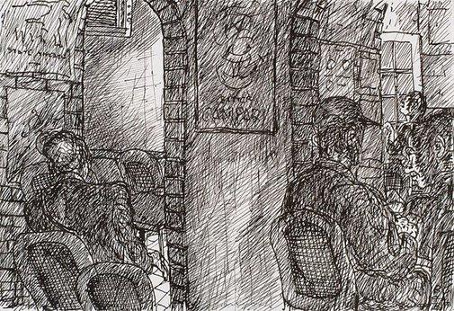 An image of Two archways, Bill and Toni's, Stanley Street, East Sydney by Kevin Connor