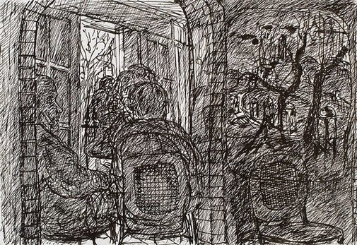 An image of Thoughts of a Spanish village, Bill and Toni's, Stanley Street, East Sydney by Kevin Connor