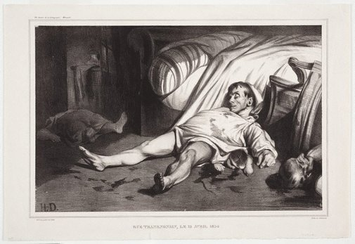 An image of Rue Transnonain, 15 April 1834 by Honoré Daumier