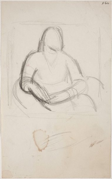 An image of (Portrait study) (Late Sydney Period) by William Dobell