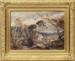 Alternate image of Landscape with watermill by Samuel Palmer