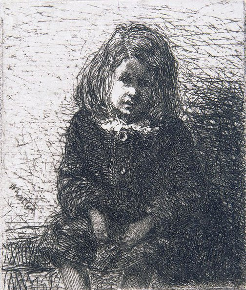 An image of Little Arthur by James Abbott McNeill Whistler