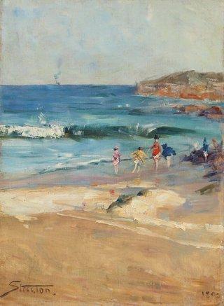 AGNSW collection Arthur Streeton Beach scene 1890