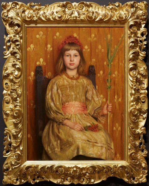 An image of My crown and sceptre by Thomas Cooper Gotch
