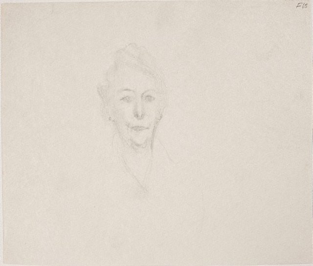 An image of (Portrait study of a woman's head) (Late Sydney Period)
