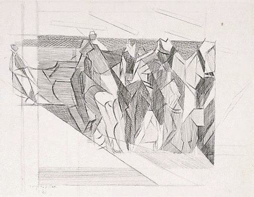 An image of The cavaliers by Jacques Villon