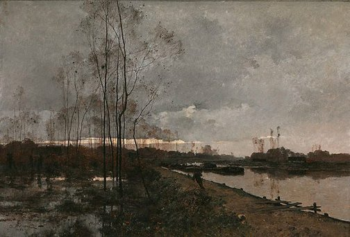 An image of The banks of the Loing by Léon Germain Pelouse