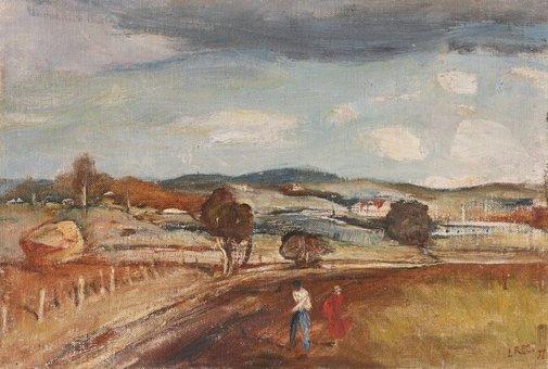 An image of Landscape near Orange by Lloyd Rees