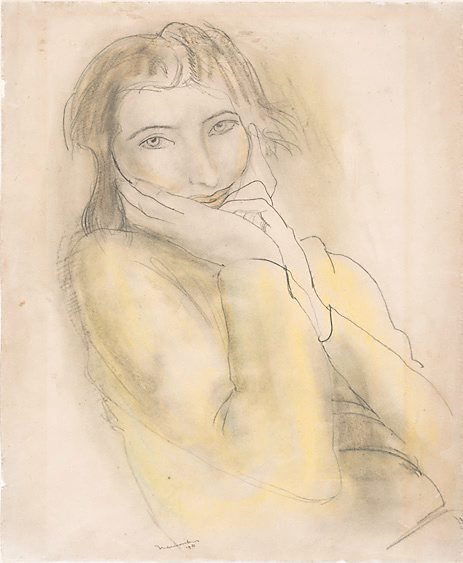 An image of Girl's head by Bernard Meninsky