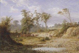 Goodman's Creek, Bacchus Marsh, Victoria, (1876) by Louis Buvelot