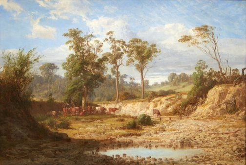 An image of Goodman's Creek, Bacchus Marsh, Victoria by Louis Buvelot