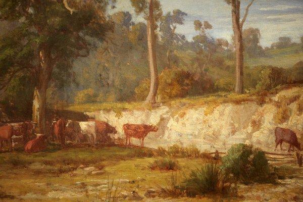 Alternate image of Goodman's Creek, Bacchus Marsh, Victoria by Louis Buvelot