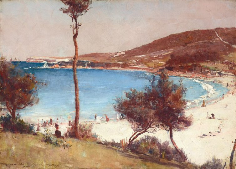 AGNSW collection Tom Roberts Holiday sketch at Coogee (1888) 9078