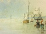 Alternate image of On the Beach by attrib. Richard Parkes Bonington