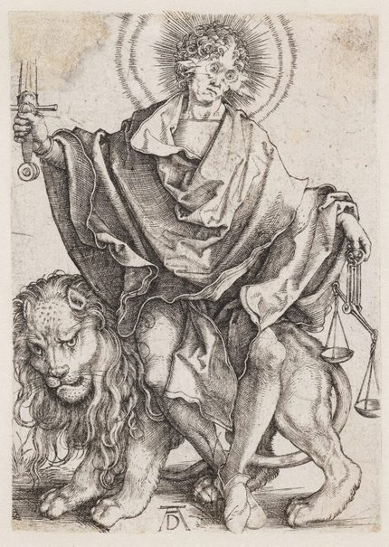 An image of Sol Justitiae (Christ as the Sun of Justice) by Albrecht Dürer