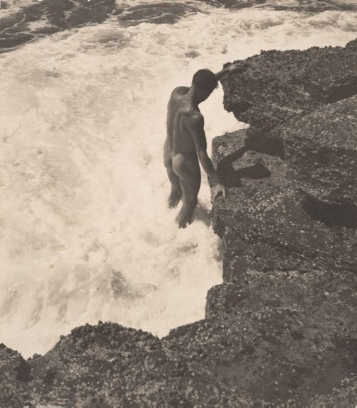 An image of Untitled (Man in surf) by Keast Burke