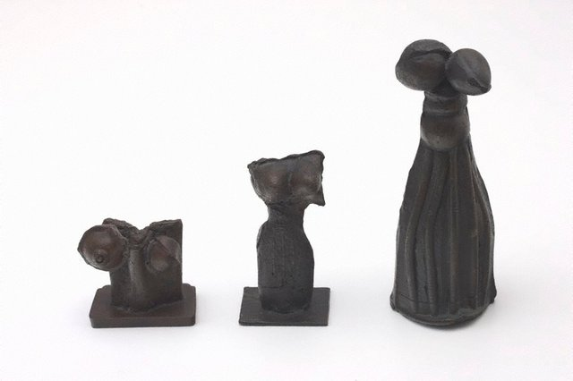 An image of Group of three figures