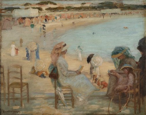 An image of On the beach (Royan) by Rupert Bunny
