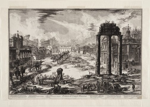 An image of View of the Campo Vaccino by Giovanni Battista Piranesi