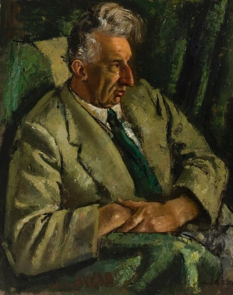 An image of Professor A.L. McAulay by Jack Carington Smith