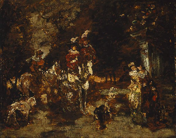 AGNSW collection Adolphe Monticelli Wood scene with riders 9133