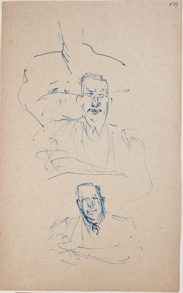 An image of (Portrait studies of a man) (Late Sydney Period)