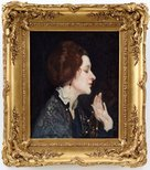 Alternate image of Portrait of a lady (Thea Proctor) by George W Lambert